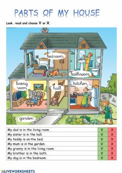 Interactive worksheet My house
