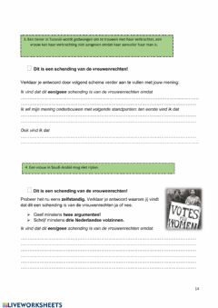 Interactive worksheet Seksualiteit