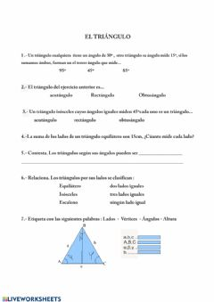 Interactive worksheet Triángulo