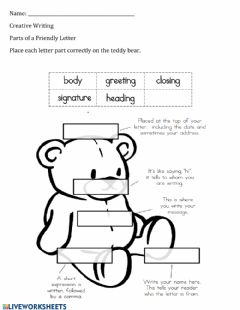 Interactive worksheet Part of a Friendly Letter