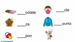 Interactive worksheet Palabras con Ch