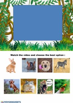 Interactive worksheet Wild animals and pets