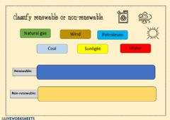 Interactive worksheet Renewable