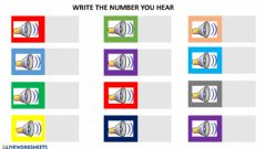 Interactive worksheet Write numbers up to 15