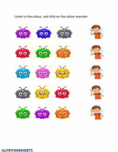 Interactive worksheet Colours in Spanish