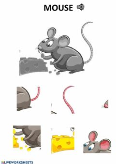Interactive worksheet Mouse puzzle