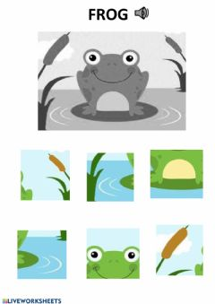 Interactive worksheet Frog puzzle
