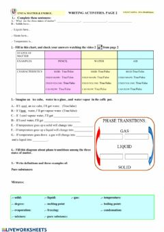 Interactive worksheet Matter & energy. page 2