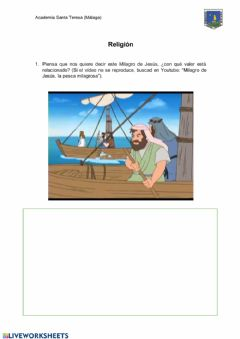 Interactive worksheet Milagros de Jesús