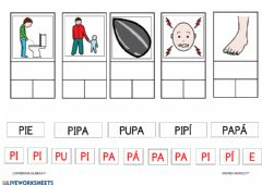 Interactive worksheet Conciencia silábica P