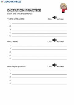 Interactive worksheet 2ºA dictation practice