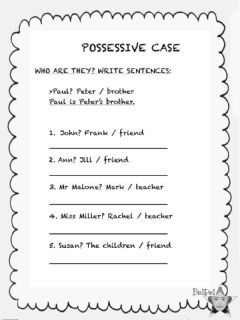 Ficha interactiva Possessive case