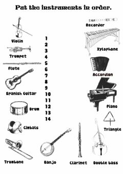 Interactive worksheet Musical Instruments1