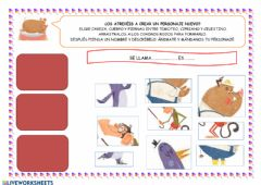 Interactive worksheet Inventamos un personaje