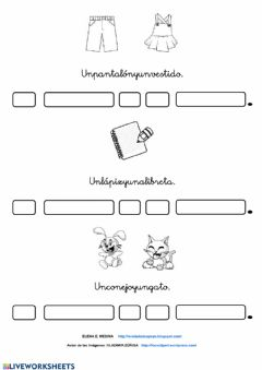 Interactive worksheet Separa plabras
