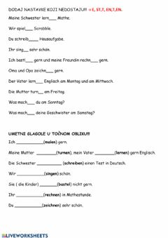 Interactive worksheet Was machst du in der schule