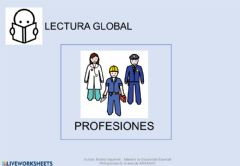 Interactive worksheet Lectura global - profesiones