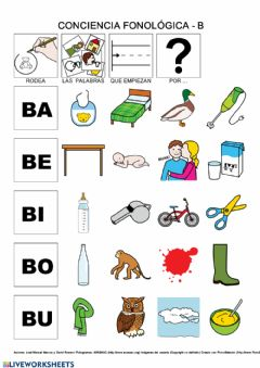 Interactive worksheet Conciencia fonológica B