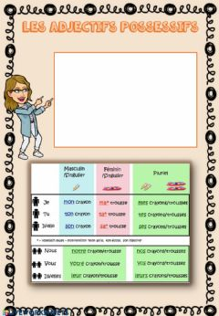 Ficha interactiva Les adjectifs possessifs