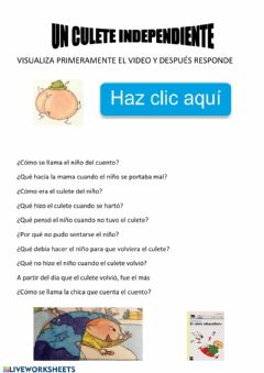 Interactive worksheet Cuento un culete independiente