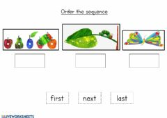 Ficha interactiva The very hungry caterpillar - Sequence