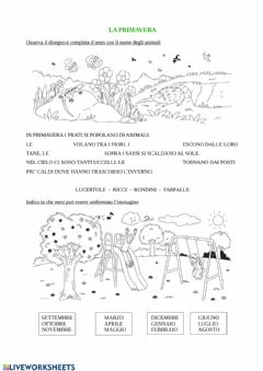 Interactive worksheet La primavera