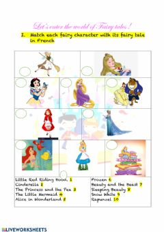 Interactive worksheet Fairy tales introduction