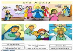 Interactive worksheet Salve Maria