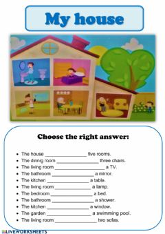 Interactive worksheet ¡MY HOUSE!