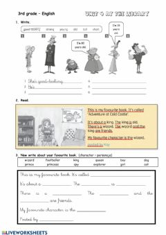 Interactive worksheet Characters