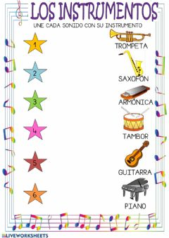 Interactive worksheet Los instrumentos