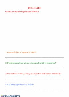Interactive worksheet Misurare