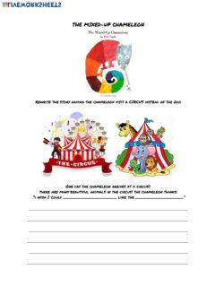 Interactive worksheet The mixed up chameleon