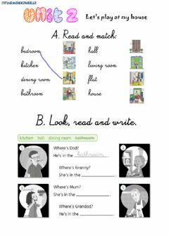 Interactive worksheet Let's play at my house! Exercises