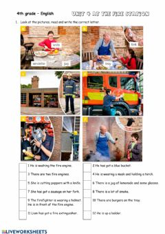 Interactive worksheet At the fire station
