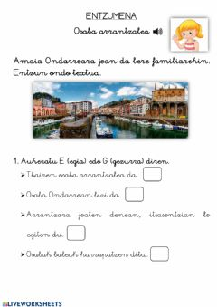 Interactive worksheet Entzumena 4