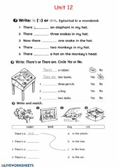 Interactive worksheet There isare