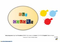 Interactive worksheet Els colors