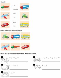 Interactive worksheet Toys - means of transport