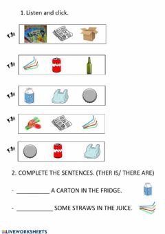 Interactive worksheet 3º unit recycling