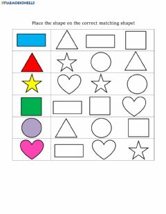 Interactive worksheet Shape Matching