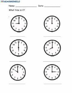Interactive worksheet Time