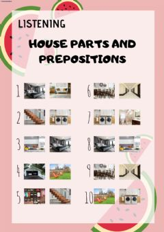 Interactive worksheet Listening: parts of the house
