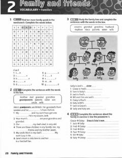 Interactive worksheet The family , possessive case