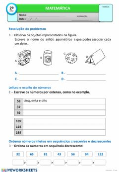Interactive worksheet Revisões
