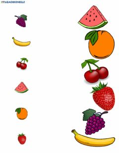 Interactive worksheet Fruit matching