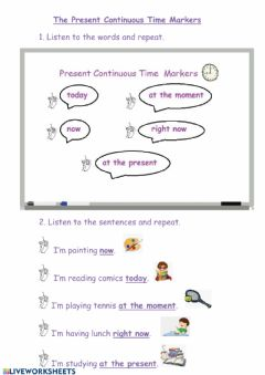 Interactive worksheet Time markers