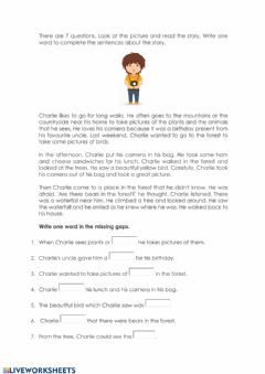 Interactive worksheet Reading and writing