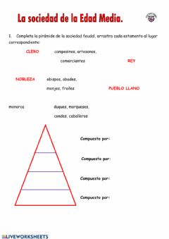 Interactive worksheet La sociedad en la edad media
