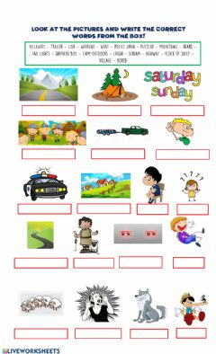 Ficha interactiva VOCABULARY Aunt Julie + The Boy who cried Wolf